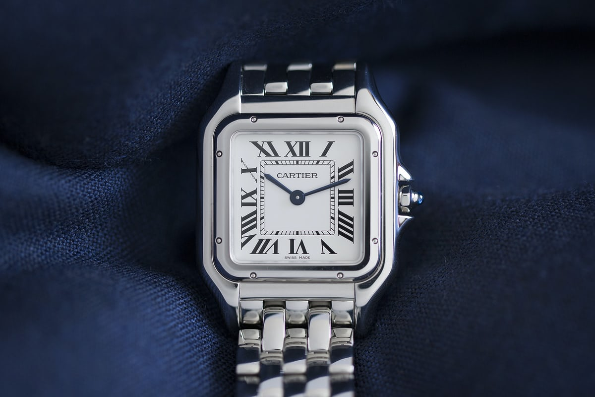 Panthère de Cartier steel medium bracelet