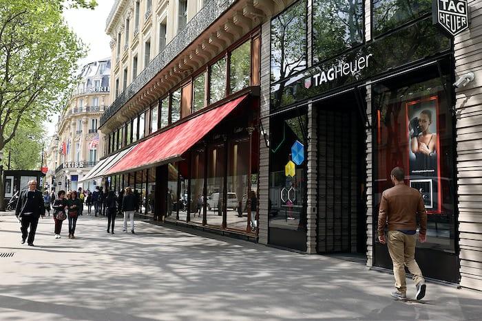 tag heuer flagship paris Champs-Elysées