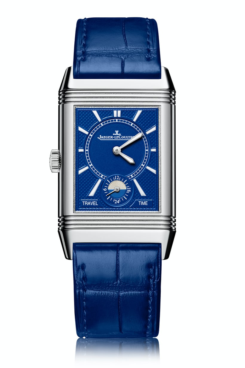 <p>The Electric Blue dial for the Reverso Classic Large Duo Small Second.</p>