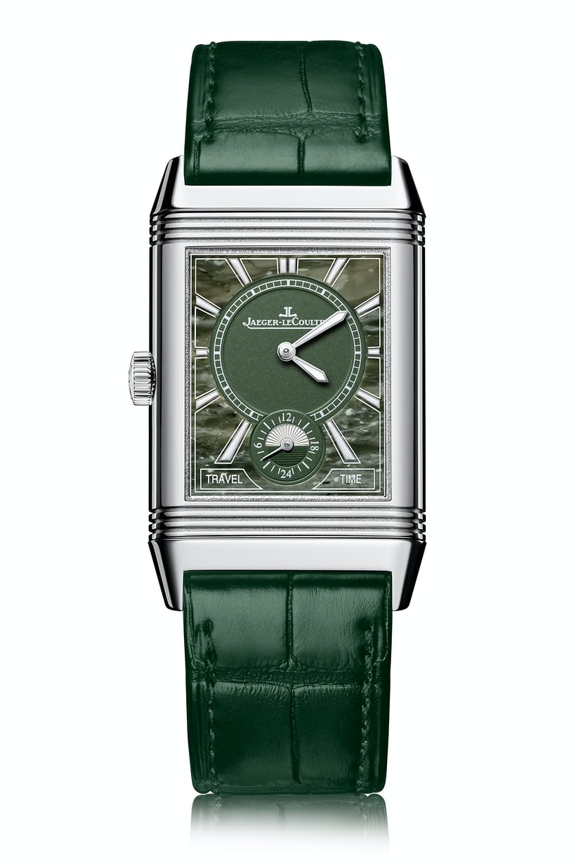 <p>The Military Marble dial on the Reverso Classic Large Duo Small Second.</p>
