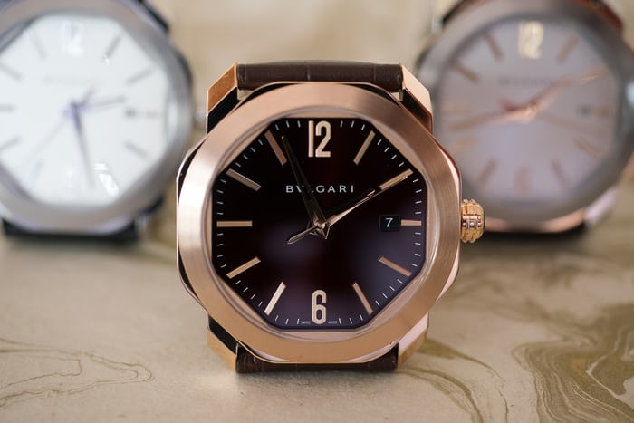 rose gold bulgari octo roma