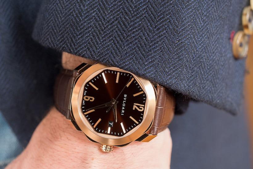 Bulgari Octo Roma brown lacquer dial