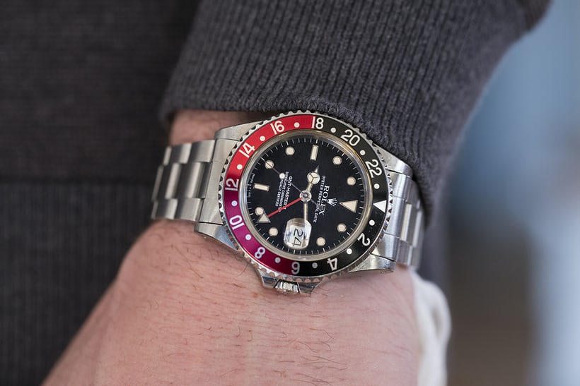 Rolex GMT-Master II Reference 16760 In The Shop: A 1985 Rolex GMT-Master II 'Fat Lady' Reference 16760, A 1970s Zenith Chronograph With Black PVD Case, And A 1950s Ernest Borel Incastar 'Dato-Compax' In The Shop: A 1985 Rolex GMT-Master II 'Fat Lady' Reference 16760, A 1970s Zenith Chronograph With Black PVD Case, And A 1950s Ernest Borel Incastar 'Dato-Compax' 20019753