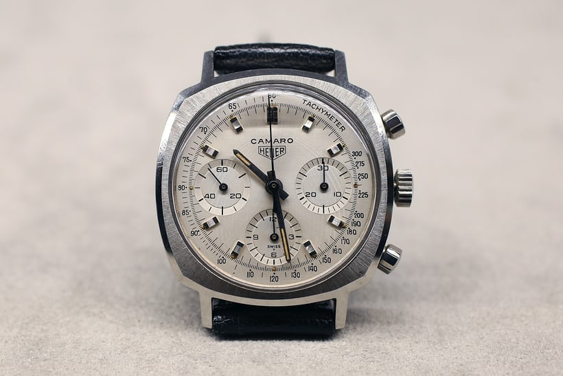 A Heuer Camaro chronograph from the 1970s.