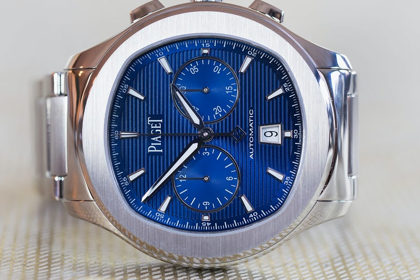 piaget polo s chronograph blue dial
