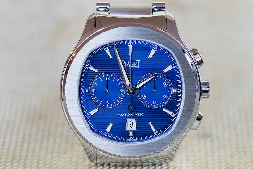 piaget polo s chronograph blue dial
