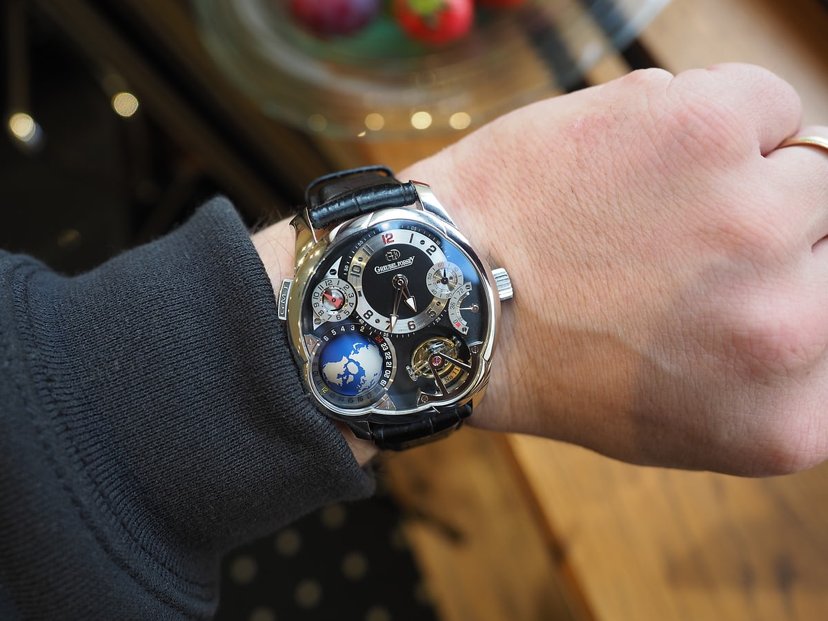 Greubel Forsey GMT wrist shot