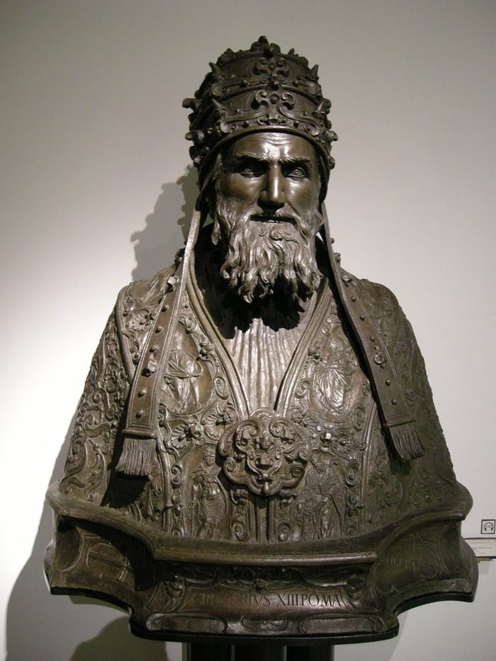 Bust of Pope Gregory III, Mengati