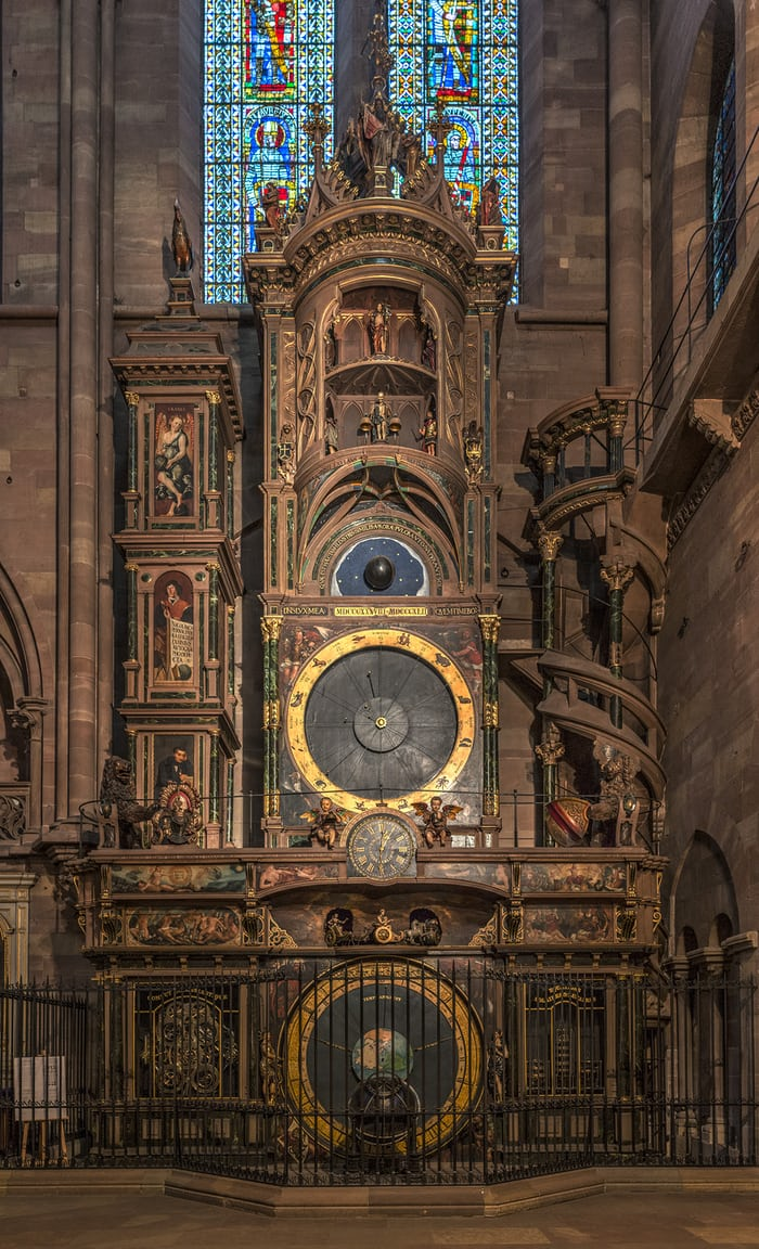The astronomical clock in Notre-Dame-de-Strasbourg Cathedral