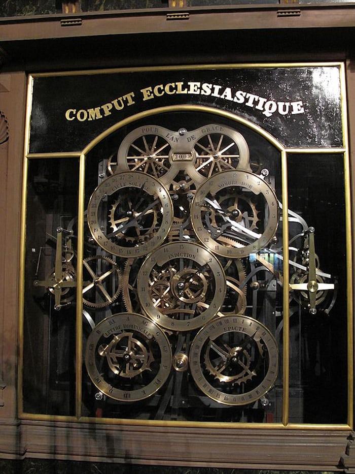Strasbourg clock computus mechanism