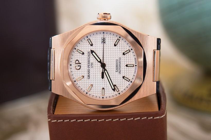 Laureato 38mm Girard-Perregaux rose gold dial