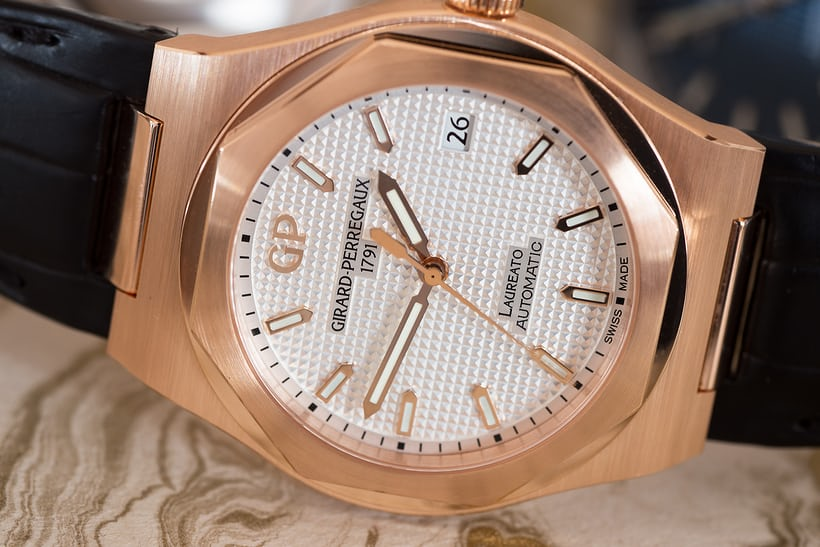 Girard Perregaux Laureato rose gold 38mm