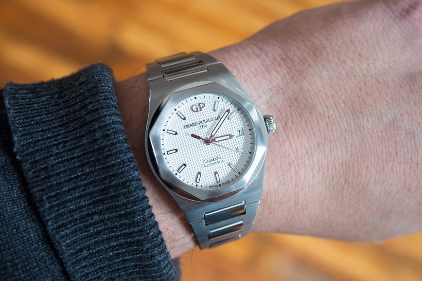 Girard-Perregaux Laureato dial wrist shot