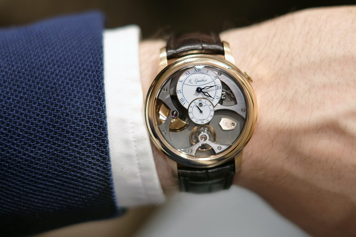 romain gauthier insight micro rotor red gold wristshot