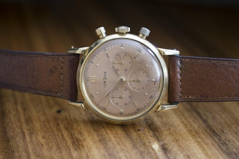 Winston Churchill Yellog Gold Lemania Chronograph Sotheby's