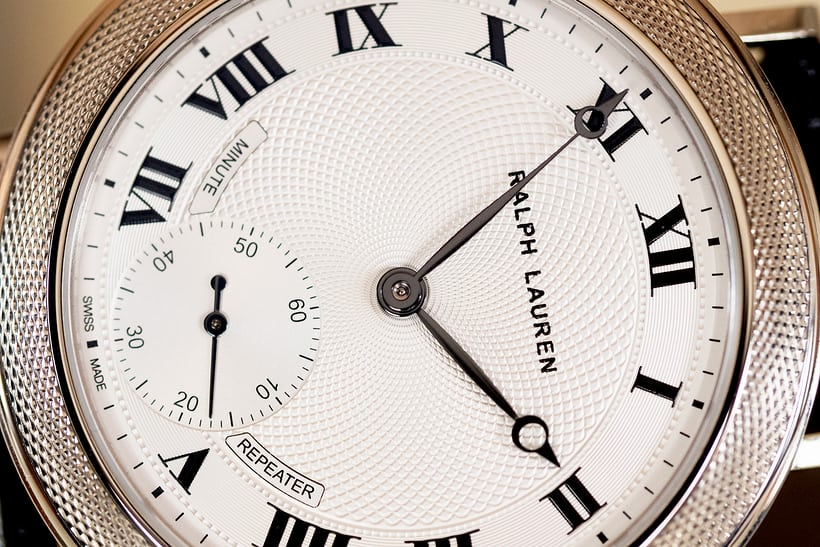 Ralph Lauren Minute Repeater Dial Closeup
