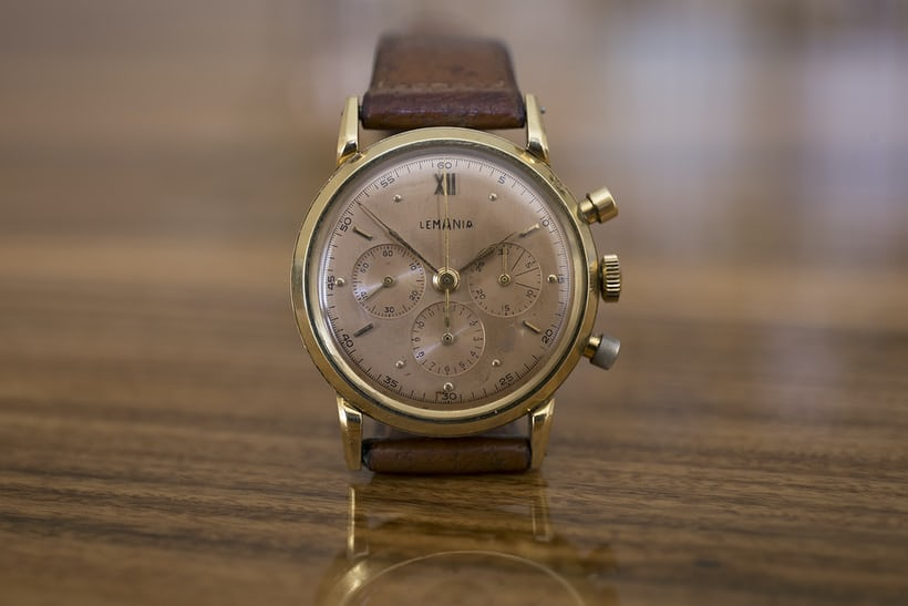 Winston Churchill Yellog Gold Lemania Chronograph Sotheby's