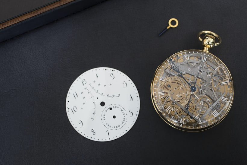 Breguet Number 1160 Marie-Antoinette and its alternate dial.