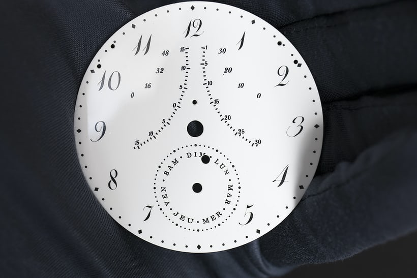 A grand feu enamel dial for the Breguet number 1160.