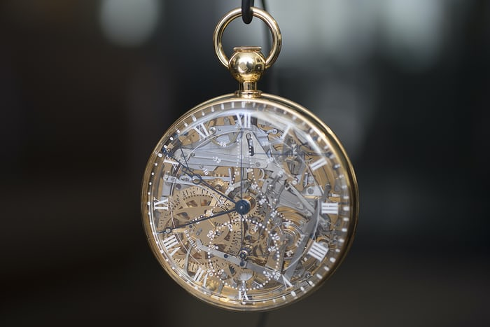 Close up of the Breguet Number 1160 Marie-Antoinette replica