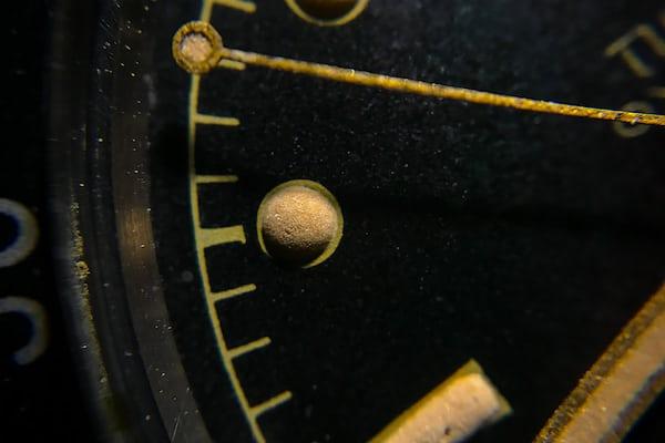 Tudor gilt dial