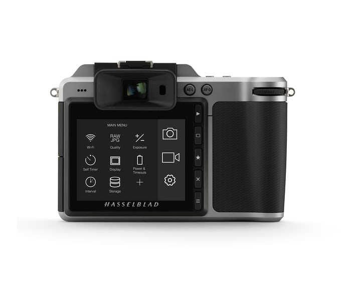 Hasselblad X1D-50c touchscreen.
