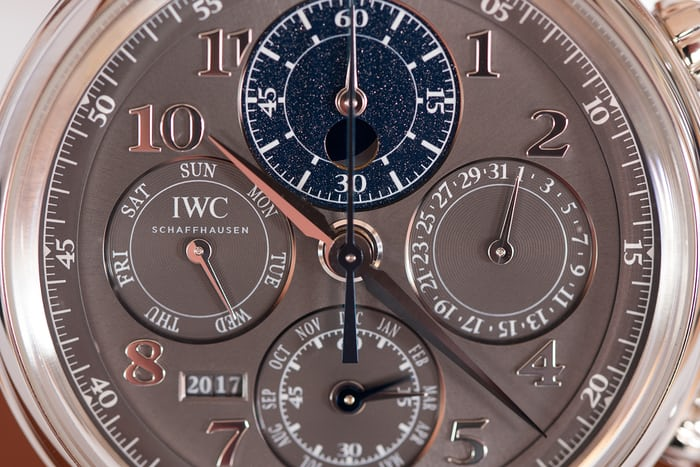 Da Vinci Perpetual Calendar Chronograph dial closeup