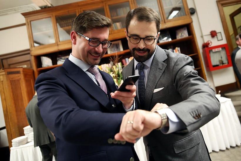 James Lamdin (left) and Frank Roda at HSNY's 2017 Gala