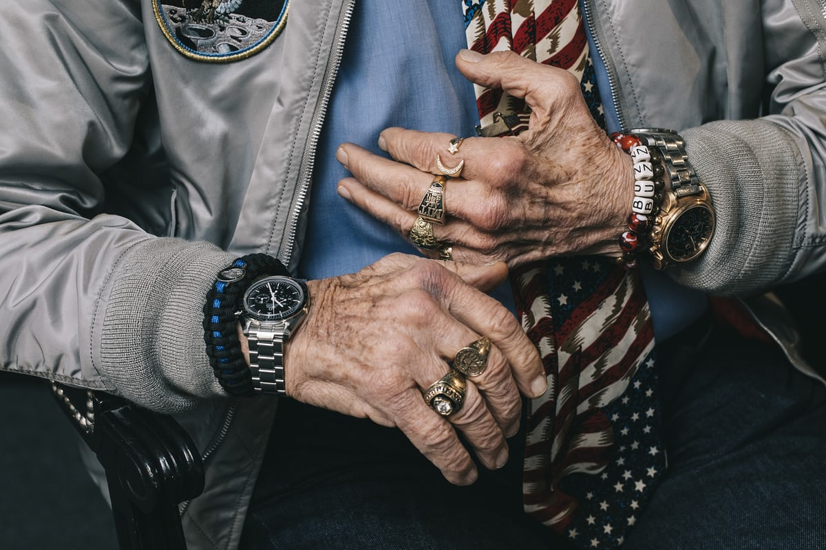 Watch Spotting Buzz Aldrin Rocking Three Omega Watches At Once