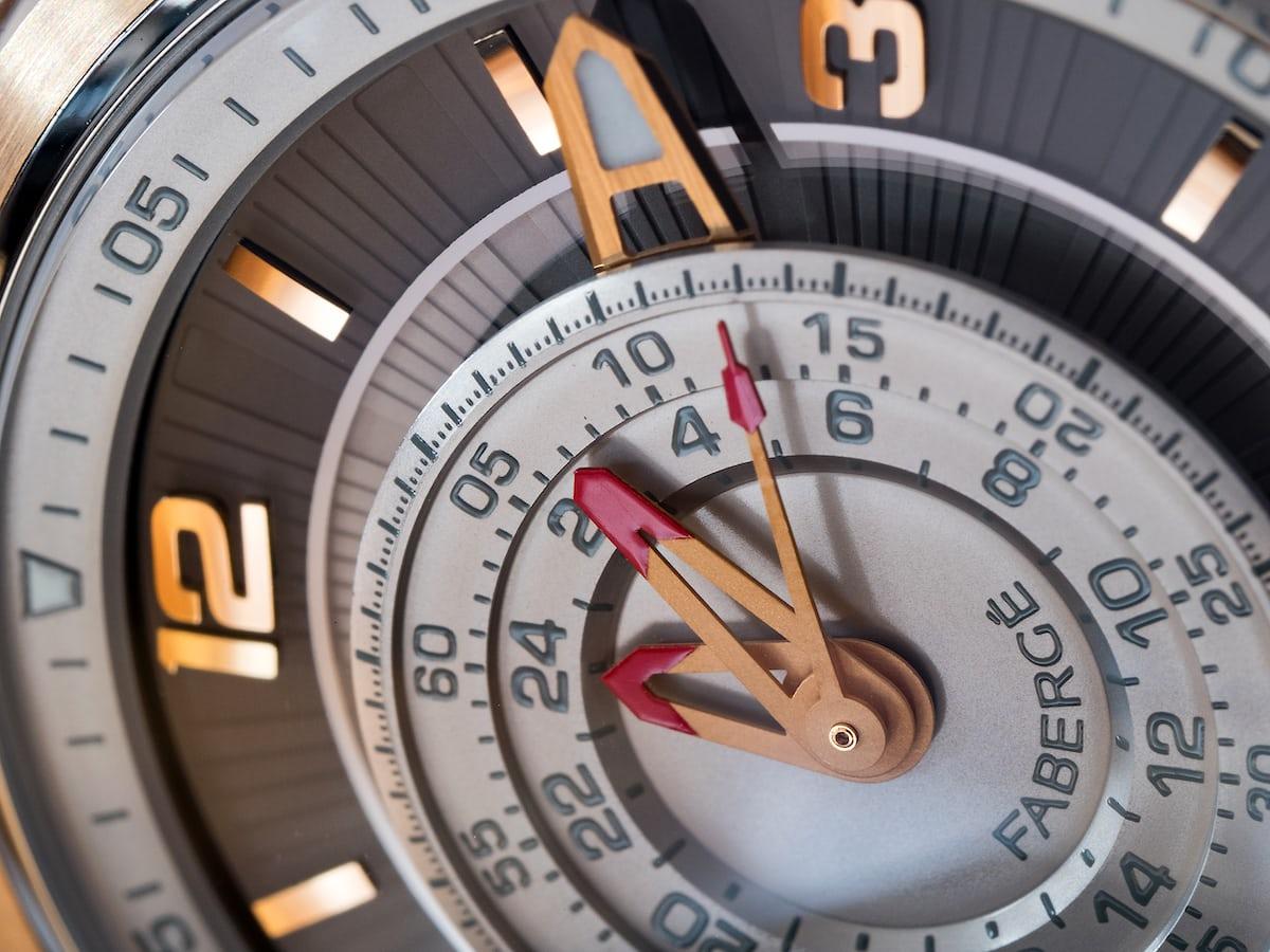 Fabergé Visionnaire Chronograph, central chronograph hands