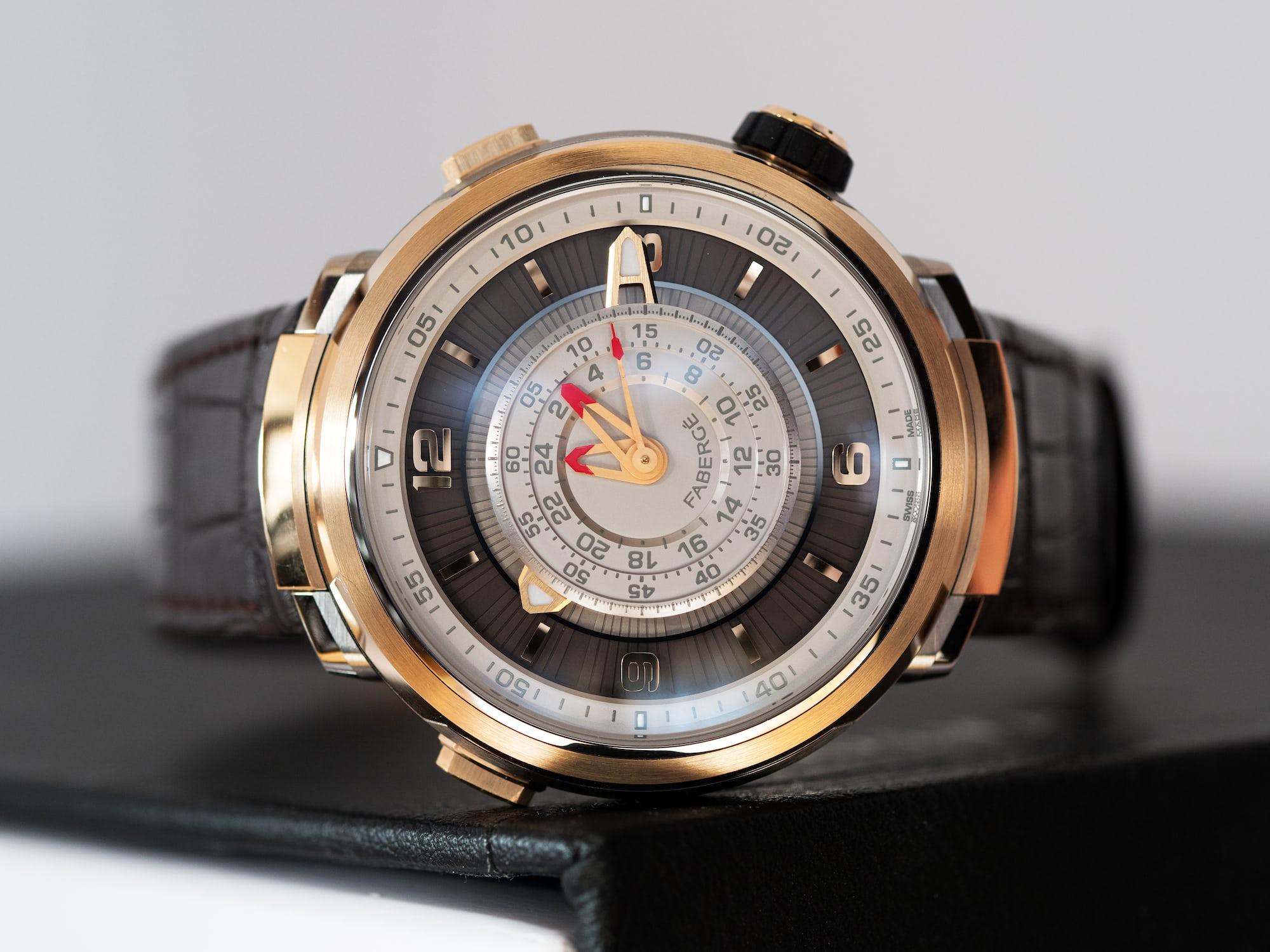 Fabergé Visionnaire Chronograph, dial side view