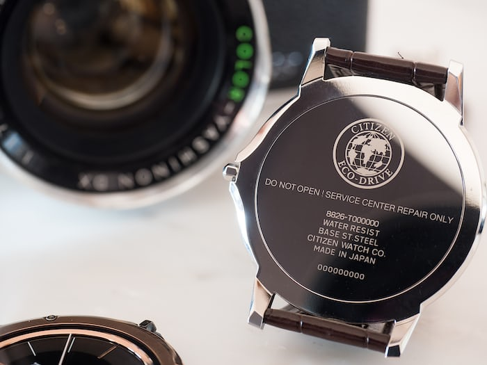 Eco-Drive One case back