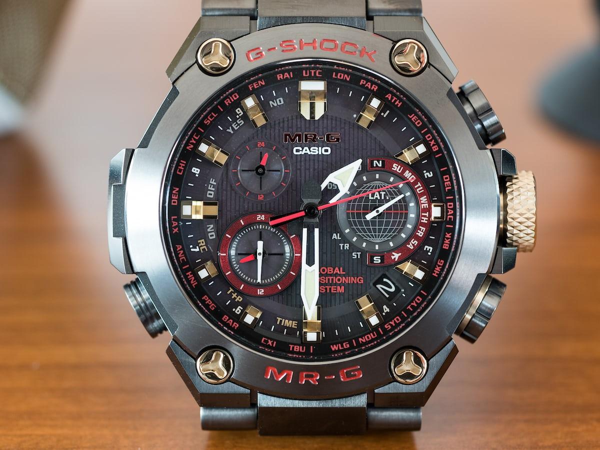 Casio G-Shock MRG-G1000B-1A4 Akazonae dial closeup