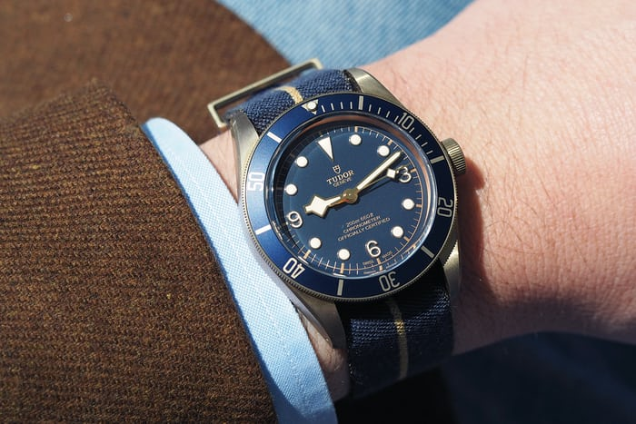 black bay bronze blue bucherer