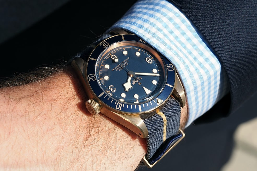 introducing the tudor black bay bronze blue special edition for