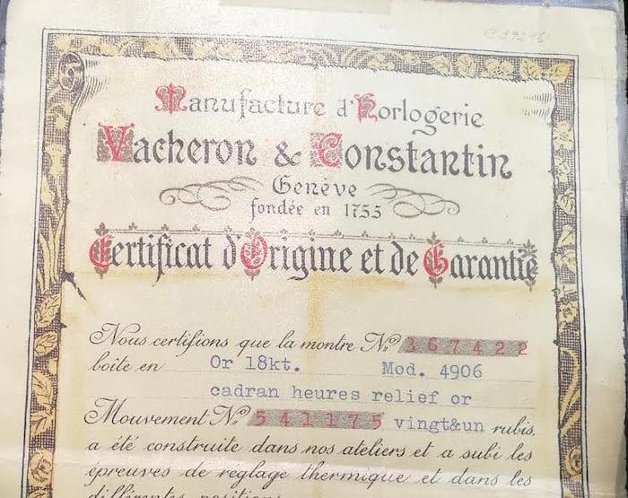 Vacheron Constantin Original Papers