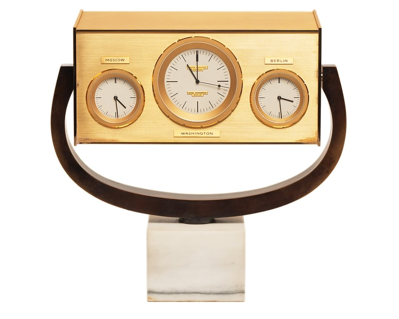 john f kennedy quartz desk clock 1963