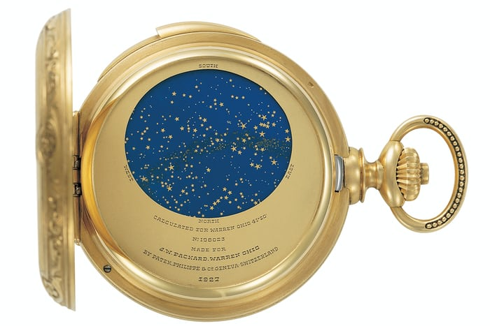 James Ward Packard Astronomical Pocket Watch patek philippe