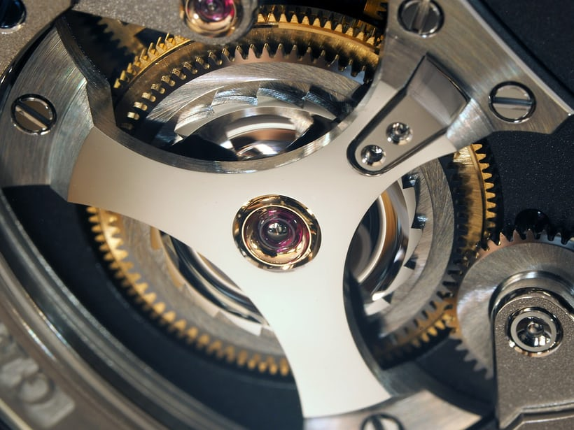 mainspring barrel jewel, Greubel Forsey Signature 1