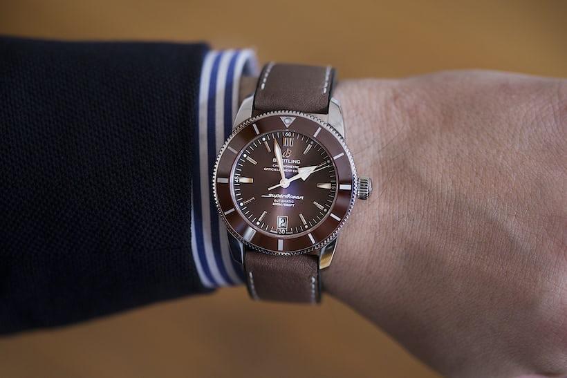 Breitling Superocean Héritage II wrist shot