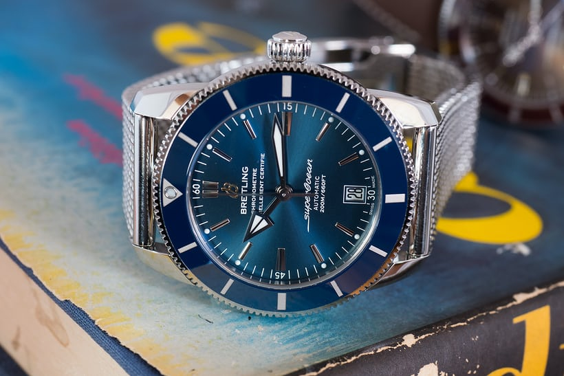 Breitling Superocean Héritage II blue dial