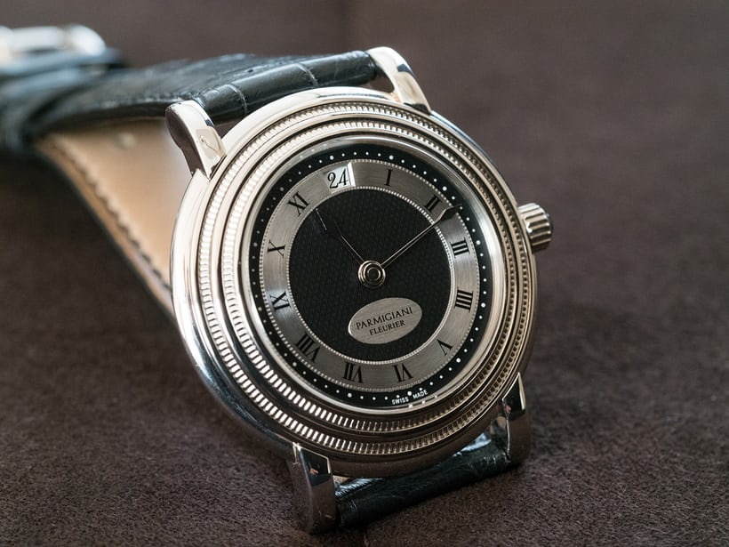 Toric Memory Time Parmigiani Fleurier bezel and dial