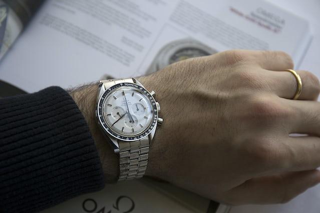 White gold Omega Speedmaster Professional