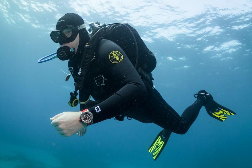richard mille RM 032 diving