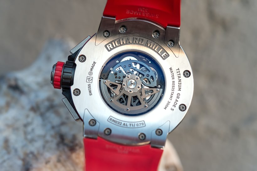 richard mille RM 032 movement rotor