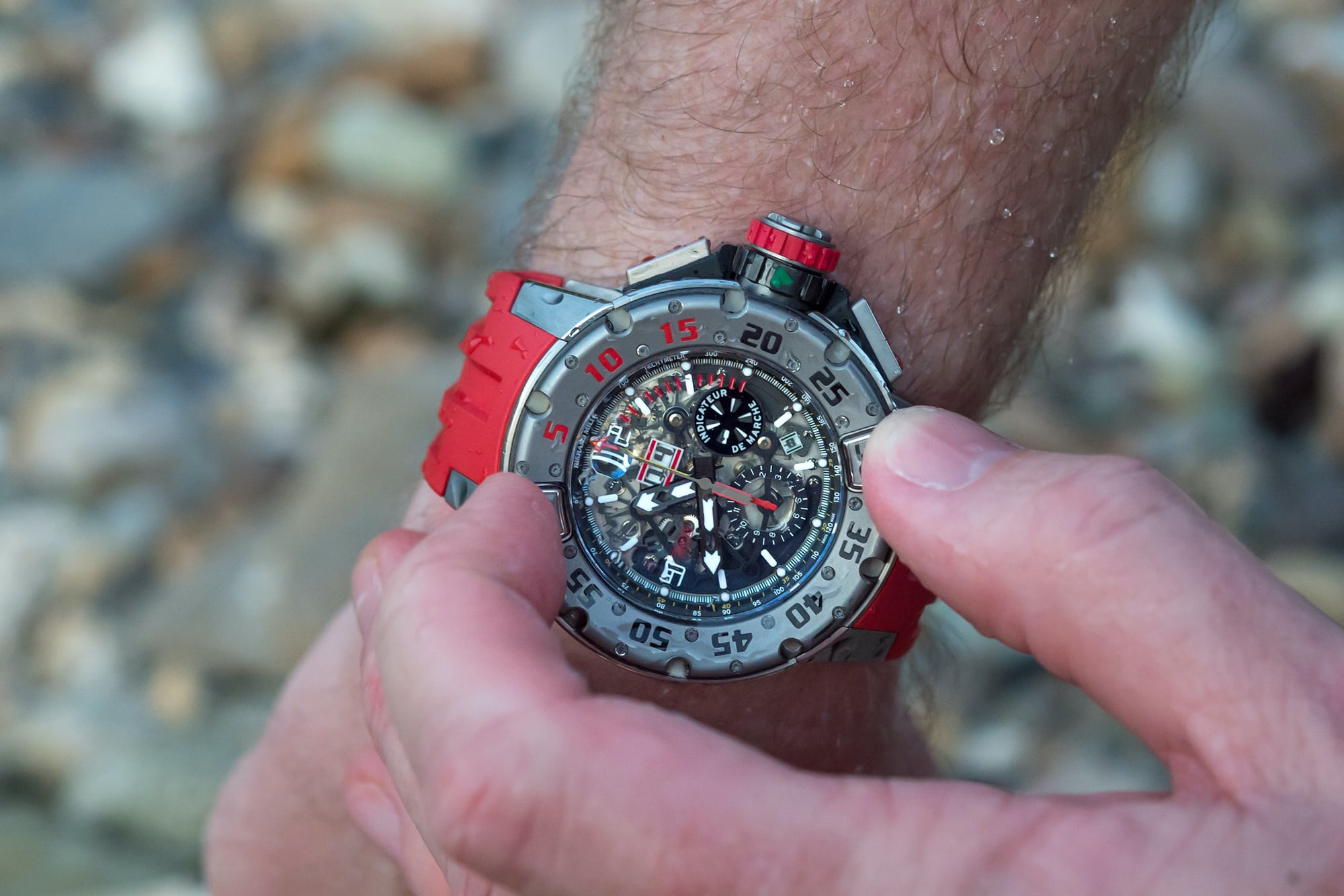 richard mille RM 032 surface dive bezel Hands-On: The Richard Mille RM 032 Diver Flyback Chronograph Hands-On: The Richard Mille RM 032 Diver Flyback Chronograph RM032 7