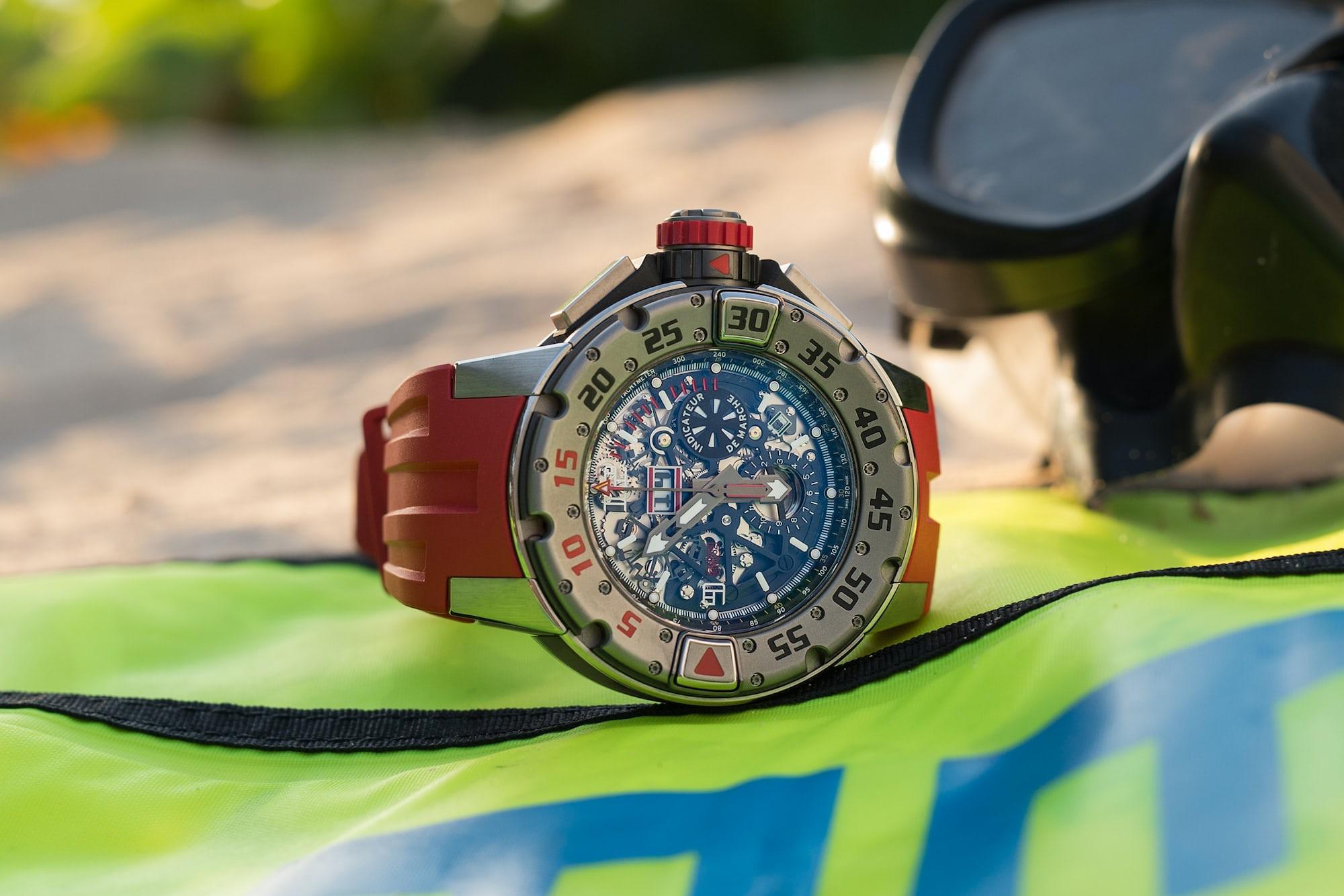 richard mille RM 032 diving dial skeletonized Hands-On: The Richard Mille RM 032 Diver Flyback Chronograph Hands-On: The Richard Mille RM 032 Diver Flyback Chronograph RM032 6
