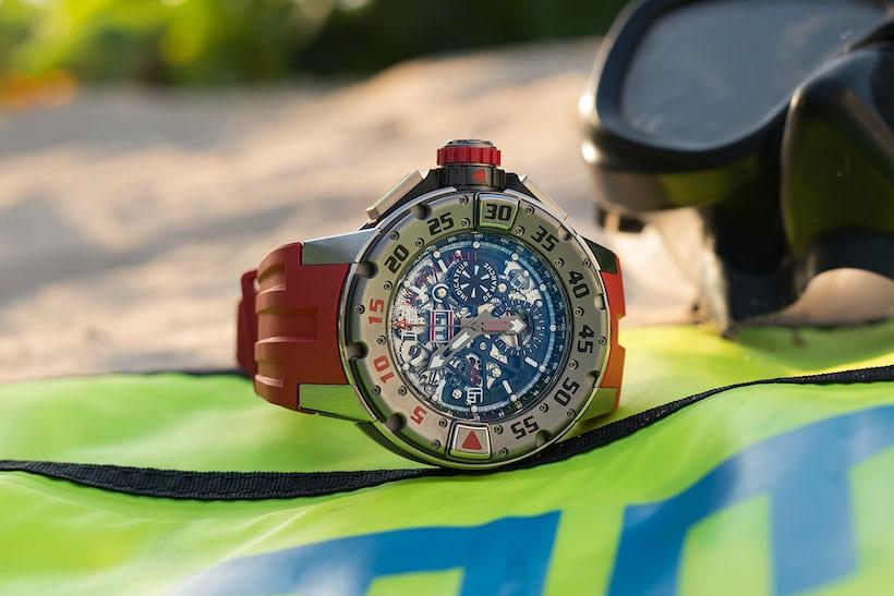 richard mille RM 032 diving dial skeletonized