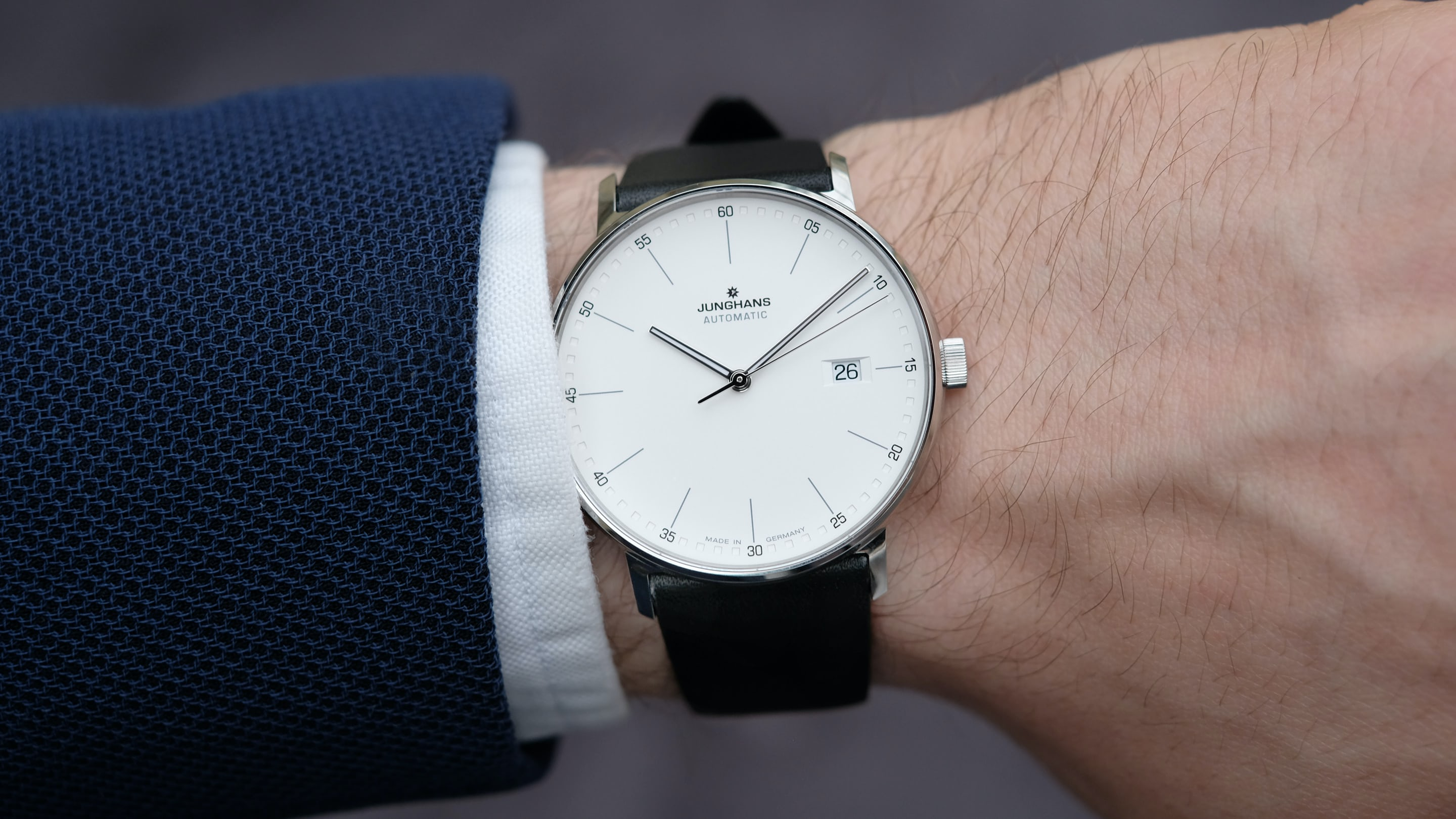 watches back gray on white stowa antea strap watch to product bauhaus dial leather minimalist a
