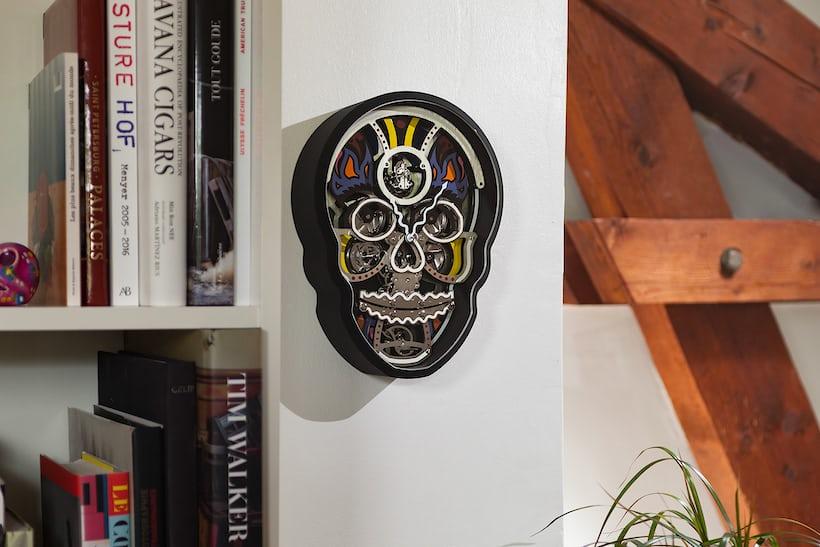 Fiona Kruger Vanitas Clock in situ